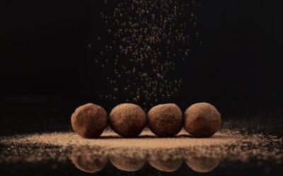 Chocolate truffles – Cocoa dusting